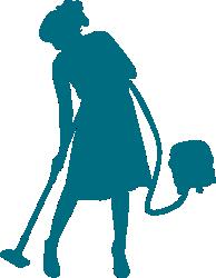 Tańczący personel sprzątający (cleaning service)